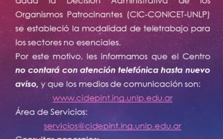 Les dejamos las vías de comunicación actuales del CIDEPINT